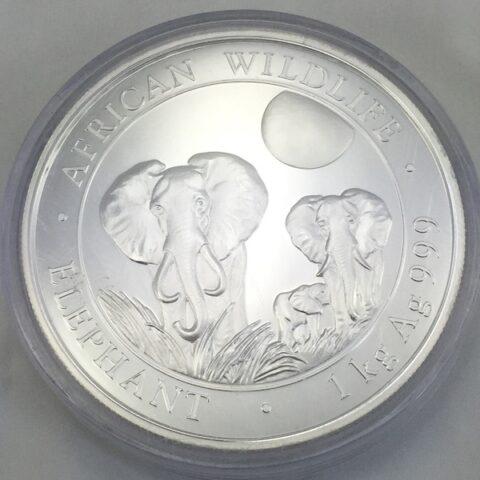 Somalia African Wildlife Elephants 1 Kg Feinsilber 9999 Bullion Münze