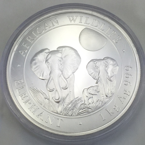 Somalia African Wildlife Elephants 1 Kg Feinsilber 9999 Bullion Münze