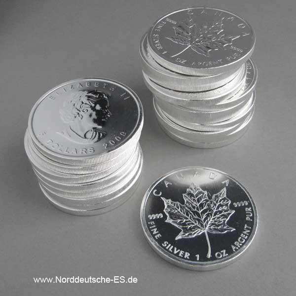 Kanada Maple Leaf Silbermünze 1 OZ