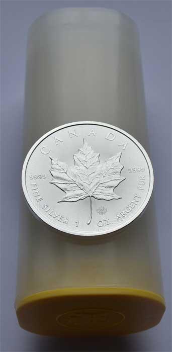 Kanada-Maple-Leaf- SILBER