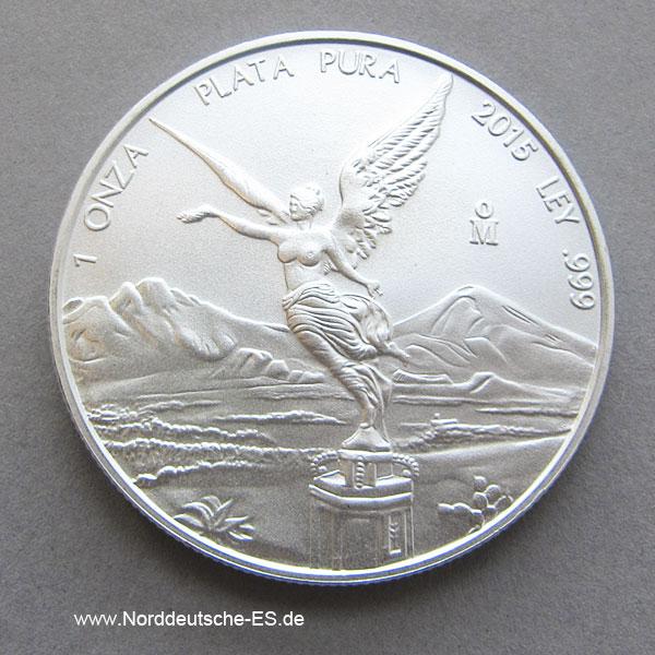 Mexiko Libertad 1oz Silber 2015 Plata Pura