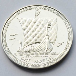 Isle Of Man One Noble 1oz Feinplatin 9995