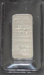 Platinbarren 10 Gramm FeinPt 9995 ehemalige Degussa