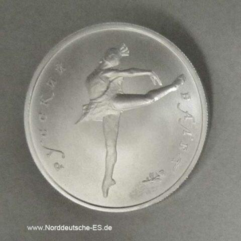 Russland 5 Rubel 1_4oz Palladium Ballerina 1993