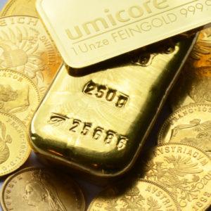 Goldbarren-und-Muenzen