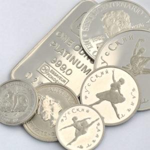 Platinbarren-und-Platinmünzen