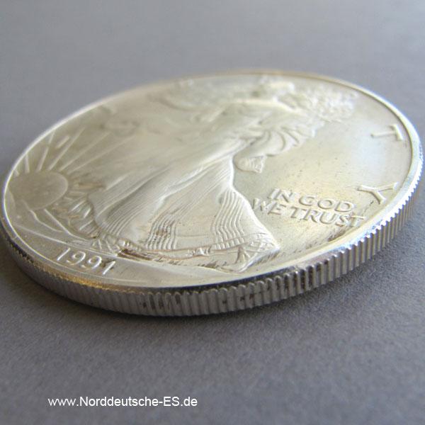 USA One Dollar American Eagle 1 oz Feinsilber 999