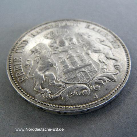 Deutsches Reich 5 Mark Silber 1891-1913 Freie Hansestadt Hamburg