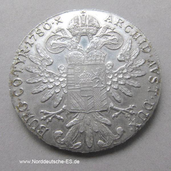 Maria Theresien Taler 1780 Silbermünze Nachprägung