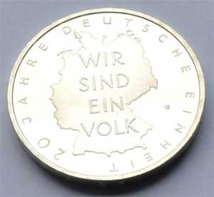 Deutschland 10 Euro Silber 20 Jahre Deutsche Einheit 2010 Gedenkmuenze