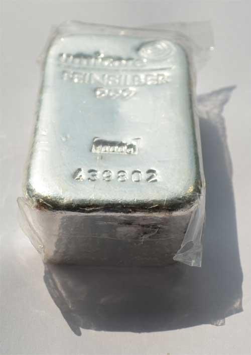Feinsilber-Barren Umicore, 1000g, 999 Silber