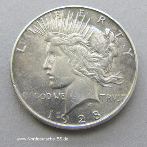 USA 1928 Peace Dollar One Dollar