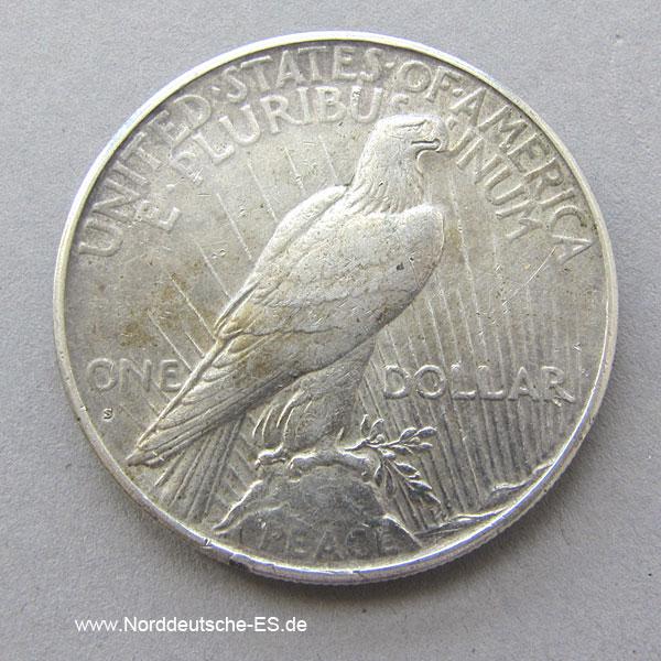 USA 1928 Peace Dollar One Dollar