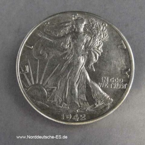 Half Dollar Silber USA Liberty