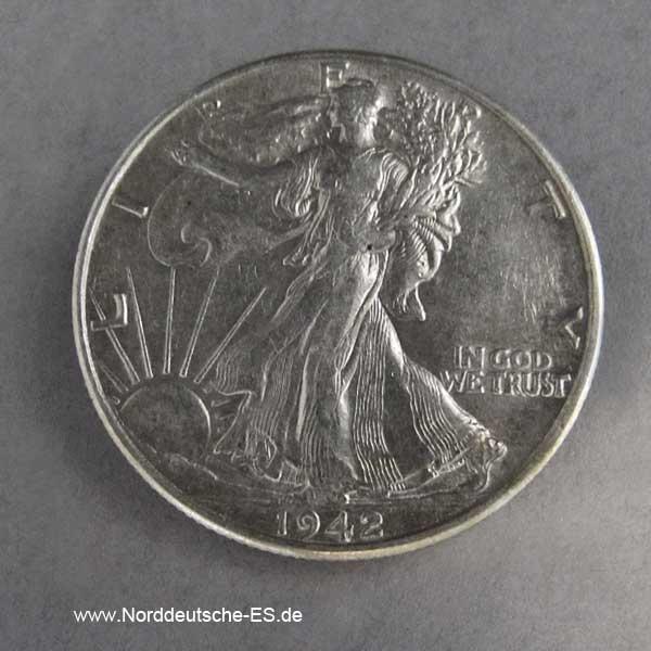Half Dollar Silber USA Liberty