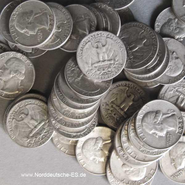 USA Quarter Dollar Silber