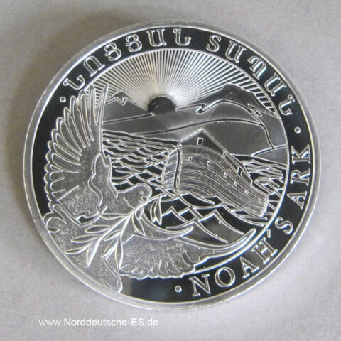 Armenien 1 oz Arche Noah Silbermünzen 500 DRAM