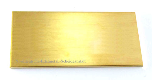 Goldblech 750er 18k sattgelb