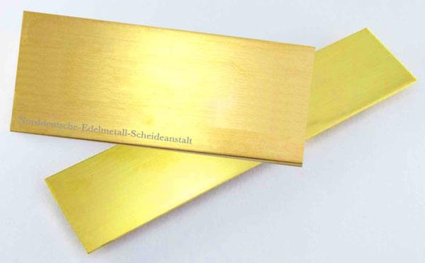 Goldblech 750er 18k Goldblech sattgelb 1mm