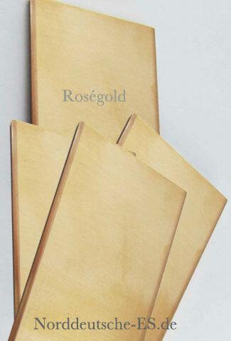 Goldblech 750er 18k roségold 2mm