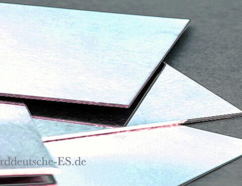 Goldblech 750er 18k Weissgold Pd