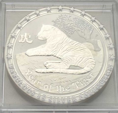 Australien Year of the Tiger 1 oz Feinsilber 2010 Bullionmünze - seltenes Sammlerstück
