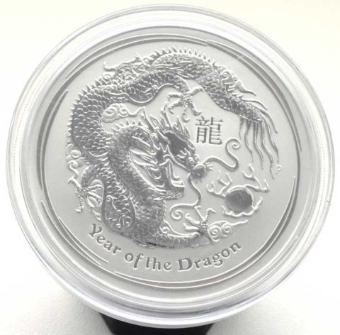 Australien Year of the Dragon 5 oz Feinsilber 999