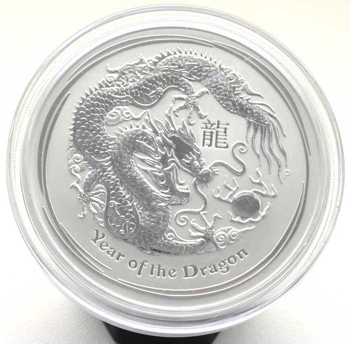 Australien Year of the Dragon 5 oz Feinsilber 999