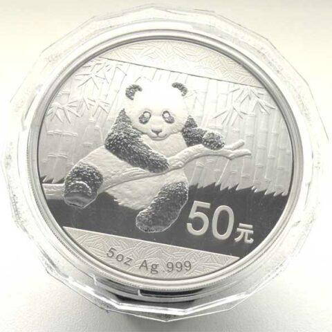 China Panda 50 Yuan 5oz Feinsilber 999