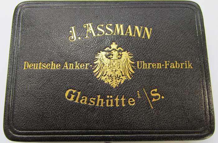 Besondere Objekte Glashuette-Assmann-Original-Uhr