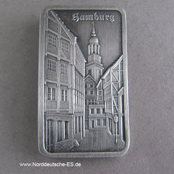 Motivbarren Heraeus 1 oz Feinsilber 999 Hamburg