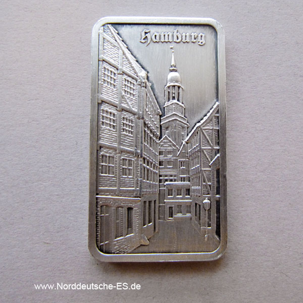 Silberbarren Heraeus 1 Unze Hamburg