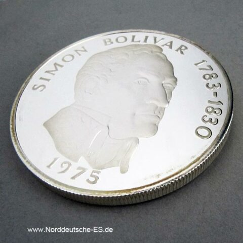Panama 20 Balboas 1975 Silber Stempelglanz