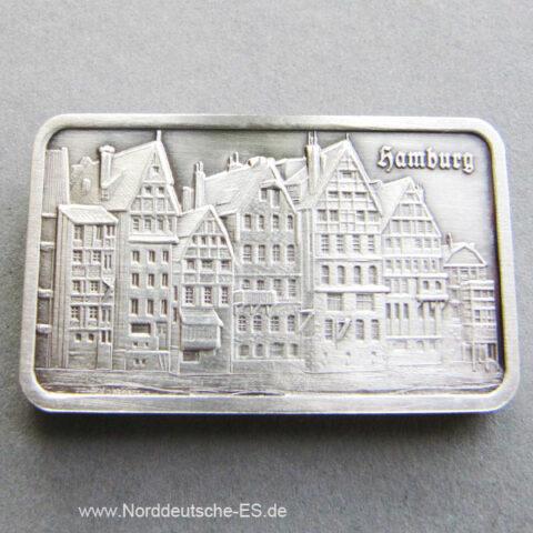 Silberbarren 1 oz Silber Heraeus Hamburg Altstadt