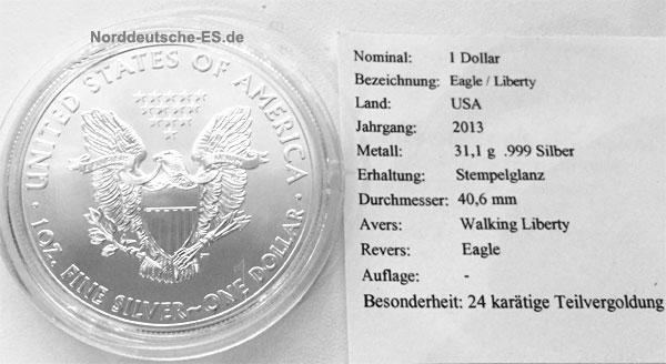 USA-Eagle-Liberty-1-Dollar-1oz-Feinsilber-vergoldet