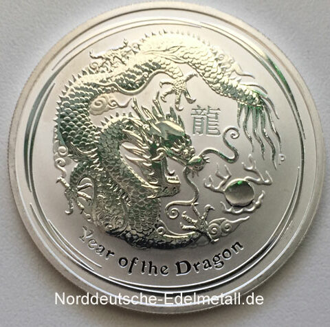 Australien 2012 Year of the Dragon 1 oz Silber 999