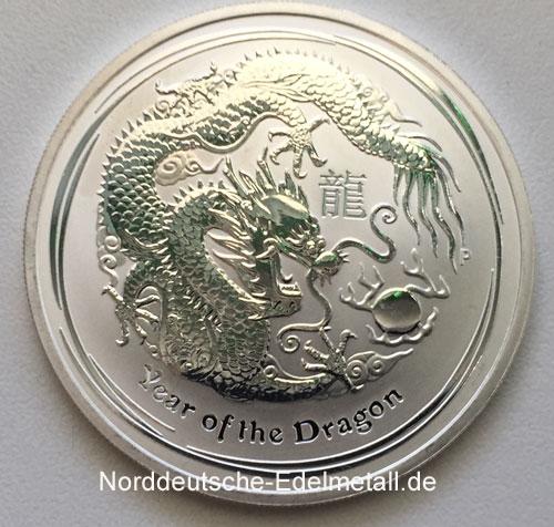 Australien 2012 Year of the Dragon 1 oz Silber 999