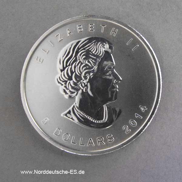 Kanada 1 oz Silbermünze Weißkopfseeadler 2014