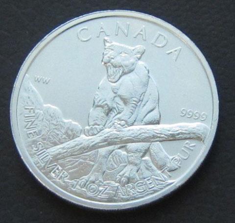 Kanada Bergloewe 1 oz Feinsilber 9999