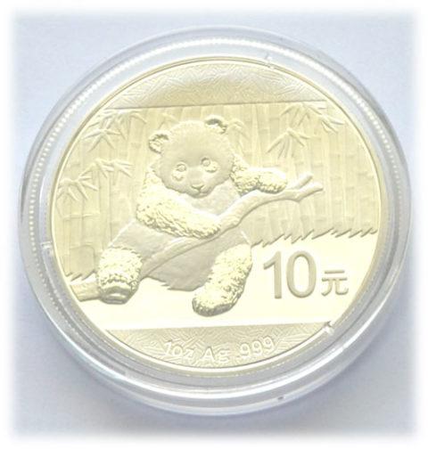 China Panda 1 oz Silber 2014 Feinsilber 999
