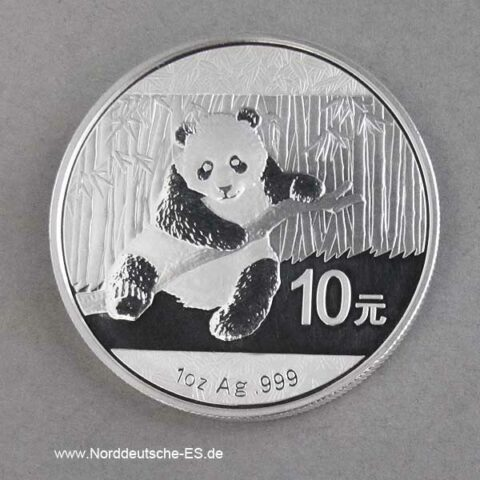 China Panda 1 oz Silber 2014 Feinsilber 999