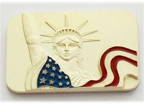 Silberbarren 1oz Feinsilber 999 Liberty mehrfarbig selten