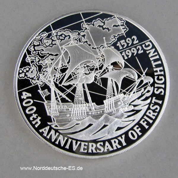 Falkland Inseln 25 Pounds Silber 5oz 1992