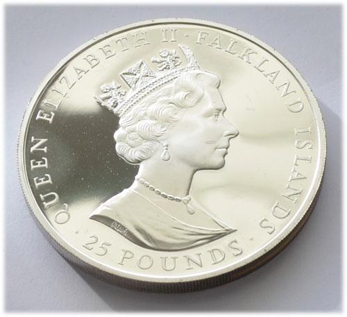 Falkland Inseln 25 Pounds Silber 5oz Feinsilber 999