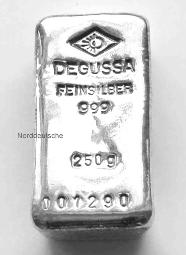 Degussa Silberbarren 250g