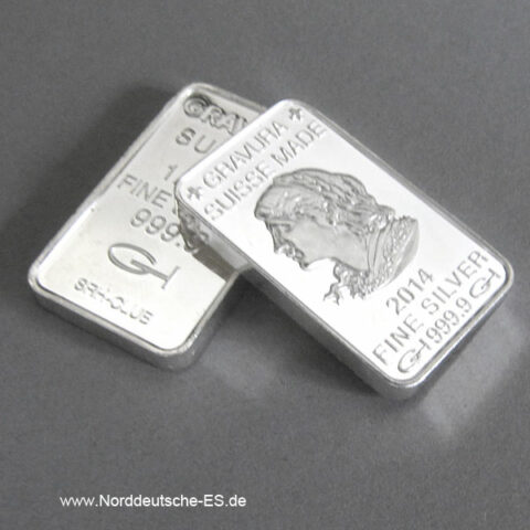 Silberbarren 1_2oz Feinsilber 999 Heraeus Hanau