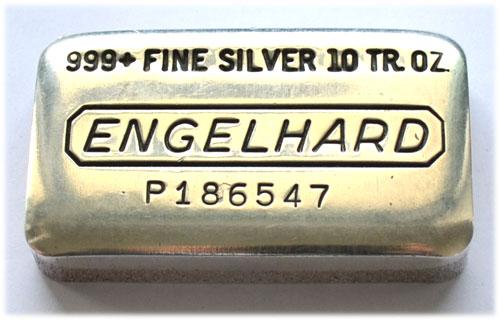 Silberbarren 10oz Feinsilber 999 311g Engelhard
