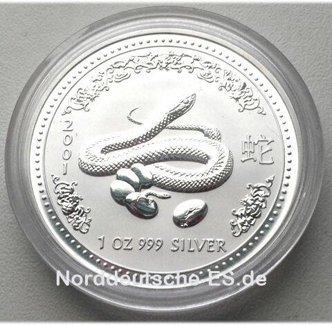 Australien Year of the Snake 1 oz Feinsilber 999