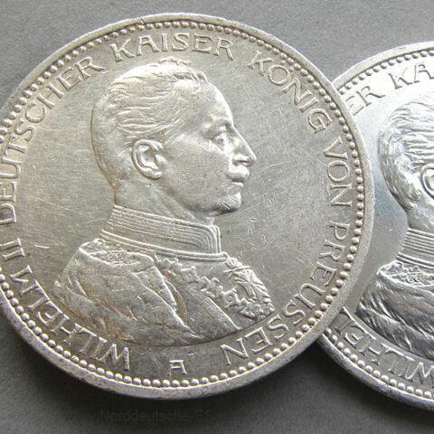 Deutsches Reich 5 Mark Silbermünze Kaiser Wilhelm 1913-1914.jpg