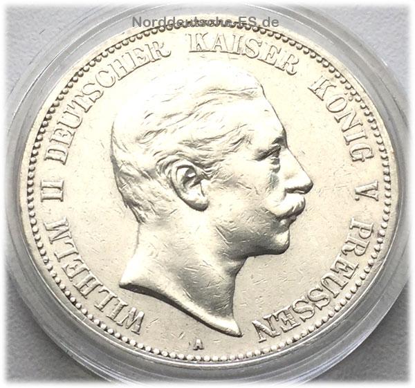 Deutsches Reich 5 Mark 1903 Silbermuenze